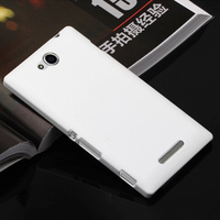 Rubberized PC Hard case for sony xperia c s39h c2305