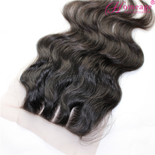 Homeage high quality soft remy full lace front closure 3 way part brazilian hair closure with baby hair
