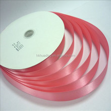 Enthusiastic carnation color polyester ribbon use to adorn
