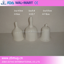 small custom christmas design white ceramic bells