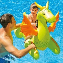 2015 hot sale swimline giant swan inflatable ride-on pool toy