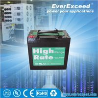 EverExceed rechargeable sealed best battery for solar power