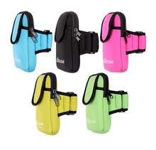 Waterproof neoprene armband pouch for running