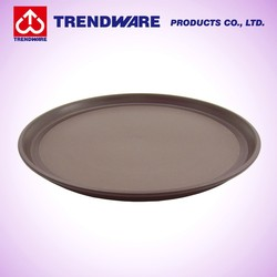 Bartander Cocktail Serving Non-slip Design Round PP Plastic Tray