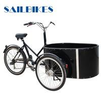 three wheel electric bike cargo trailer