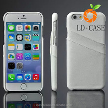 For iPhone 6 4.7/Plus 5.5 Leather Cell Phone Case Back Cover Case With Card Slot Cell Phone Accessories For smartphone