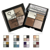Sugarbox Makeup Eyeshadow Powder Metallic Shimmer Warm Color Mineralized Pigment Eye Shadow Baked Grilled Smoky Cosmetic
