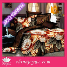 The world luxury Brands 125G Polyester 3d Bedding Set Made in China