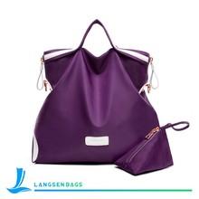 2015 China fashion simple style women nylon handbag female bag