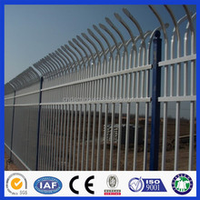 Deming factory powder coated black 2.1*2.4m steel Tubular fencing and gates