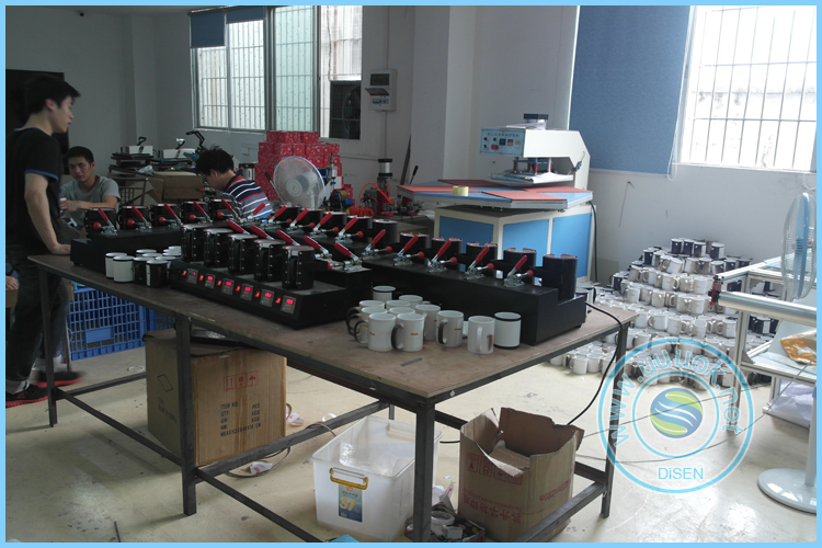 Five Station heat transfer cup printing machine ceramic color changing magic coffee mug printing machine