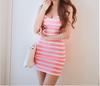 new fashion korean design see-through sleeveless slim sexy dress ladies