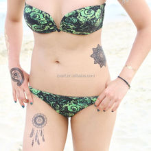Temporary black lace tattoo stickers sexy art for beauty body