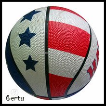 Custom printed flag rubber basketball