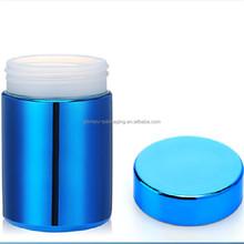 8 oz / 250 ml azul Chrome prata garrafa de embalagens de alimentos