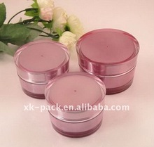 Round Double Wall Acrylic Cream Jar for Cosmetic Packaging