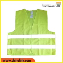 Heat transfer printed yellow safety vest with printing