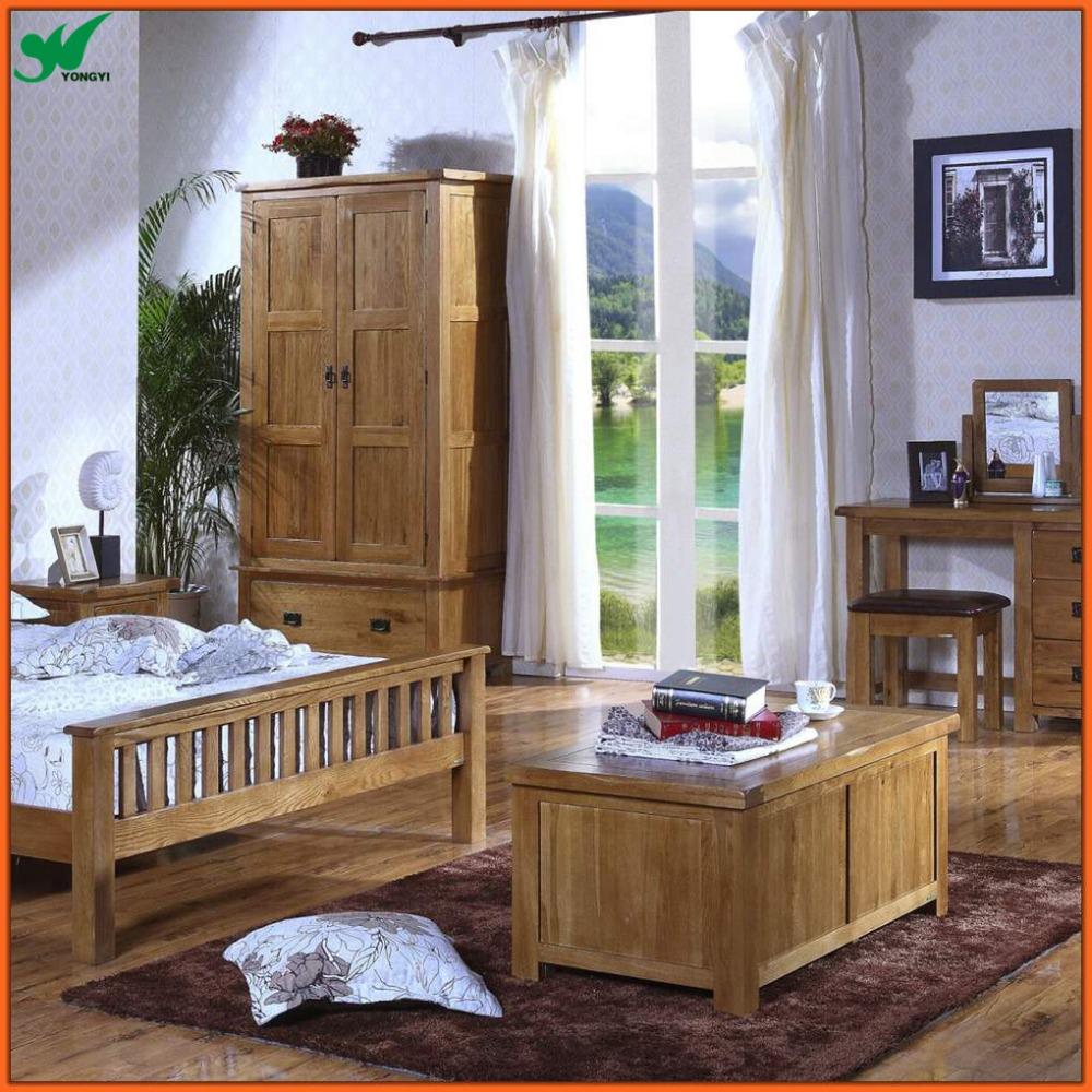 Fsc Certificate Rustic Bedroom Natural Oak Solid Wood
