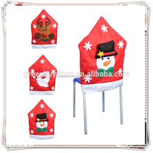 Red Hat Chair Cover Christmas Dinner Table Party Indoor Christmas Decoration