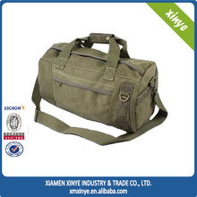 Military Men's Travel Armu Green Cotton Canvas Duffle bag Sports Duffel Bag