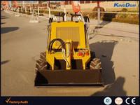 CE mini wheel loader KB380,hydraulic joystick control,wheel loader mini skid steer loader