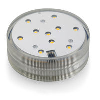 Warm white 2.8inch Battery Operated Remote Controlled LED Submersible Light Base