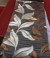 2015 hot sale polyester yarn dyed jacquard leaf design crepe crinkled pleated bubble door curtain fabric sofa fabric
