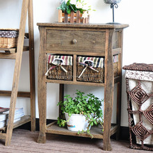 Durable and easy cleaning wooden bedside cabinet