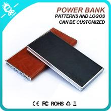 OEM leather powerbank charger mobile power bank 8000mah Pattern Printing