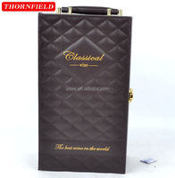 leather PU antique wine carry case