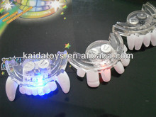flashing mouthpiece led halloween teeth