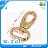 High quality bag accessories fashion gold metal key chain snap hook