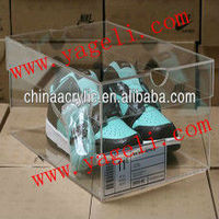 clear and luxury acrylic organizing box shoes for storage sandals,sneakers,high-heeled shoes,luxury shoes,etc