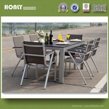HD designs outdoor furniture dining table chairs set alu outdoor furniture