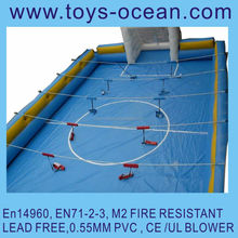 giant inflatable human soap football field,human table soccer pitch,inflatable table soccer field