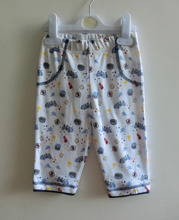 New design 100% cotton infant toddlers printing clothing baby pants