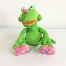 animated electronic plush frog toy