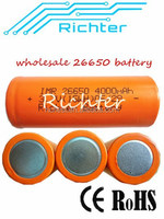 4000mah Richter rechargeable battery 3.7v deep cycle life 26650 lithium battery for electrical product