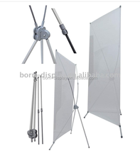 High Quality Indoor Display Strong Plastic Poles and Hooks PVC Graphic X Banner Display with 120*200CM