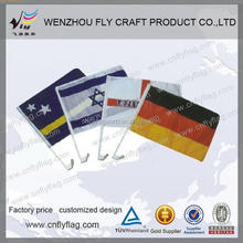 Low price classical promotional magnetic car flag