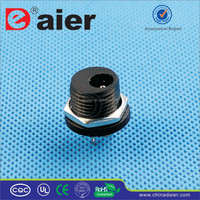 Daier Black Plastic 2.1mm/2.5mm Nuted DC-021DC Power Jack 3 Pin/DC Connector Jack/Electrical Plug