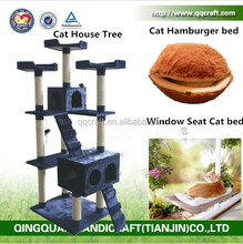 QQGY Wholesale Cat Tree House & Cat House Bed and Cat Bed With BSCI CertifacateE