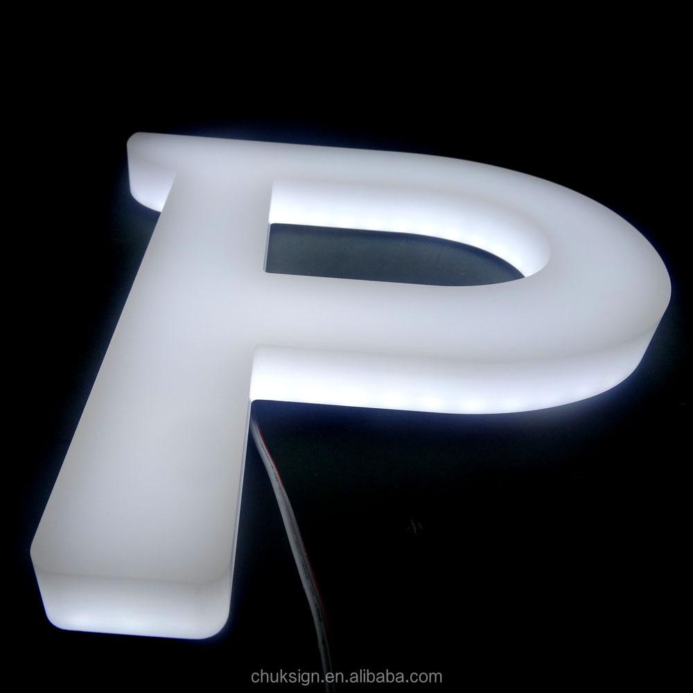 High Brightness White Acrylic Direct Led Signs