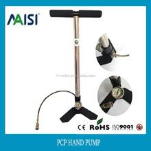 new product 3-stage mini valve gauge& hose air rifle pcp hand pump