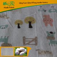 High Quality muslin fabric printed baby blanket with custom prints