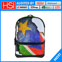 sublimiation printed polyester high class student school bag with star priting