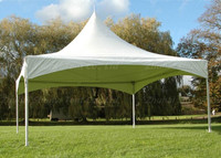 Fire resistant metal frame gazebo for outdoor events