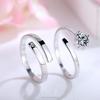 fashion AAA zircon wedding ring set, 925 silver ring for couple(SWTJU425)