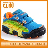 newest style dinosaur's eyes light up kids casual shoes comfortable durable boys sneakers Ankylosaurus x-10 sports shoes