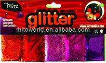 Hot sale fashion glitter 5 pack fine glitter